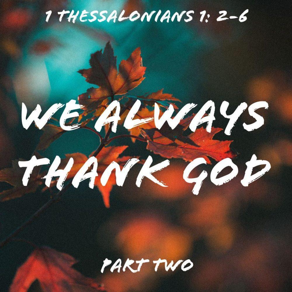 We Always Thank God, Part 2 Image