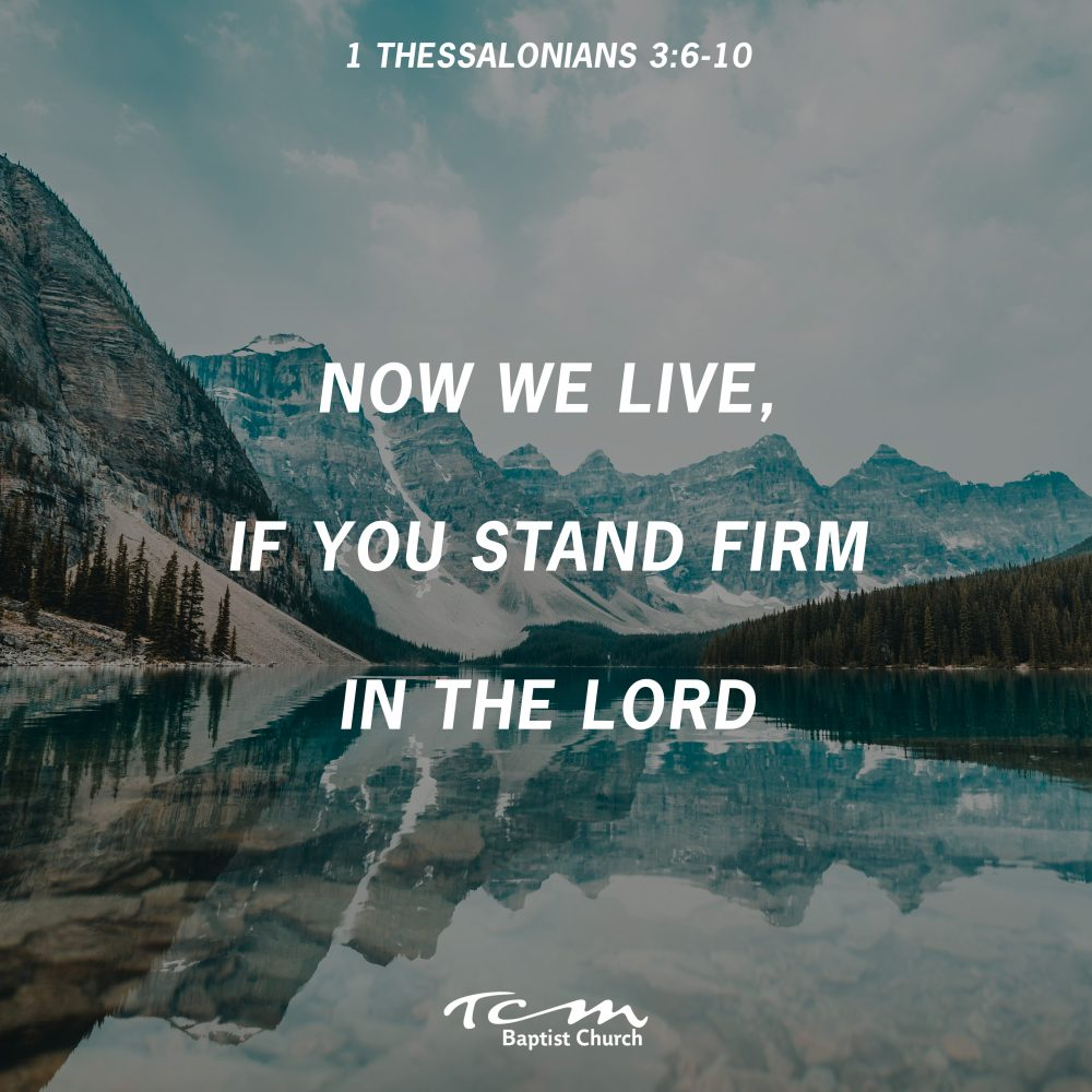 Now We Live, If You Stand Firm In the Lord Image