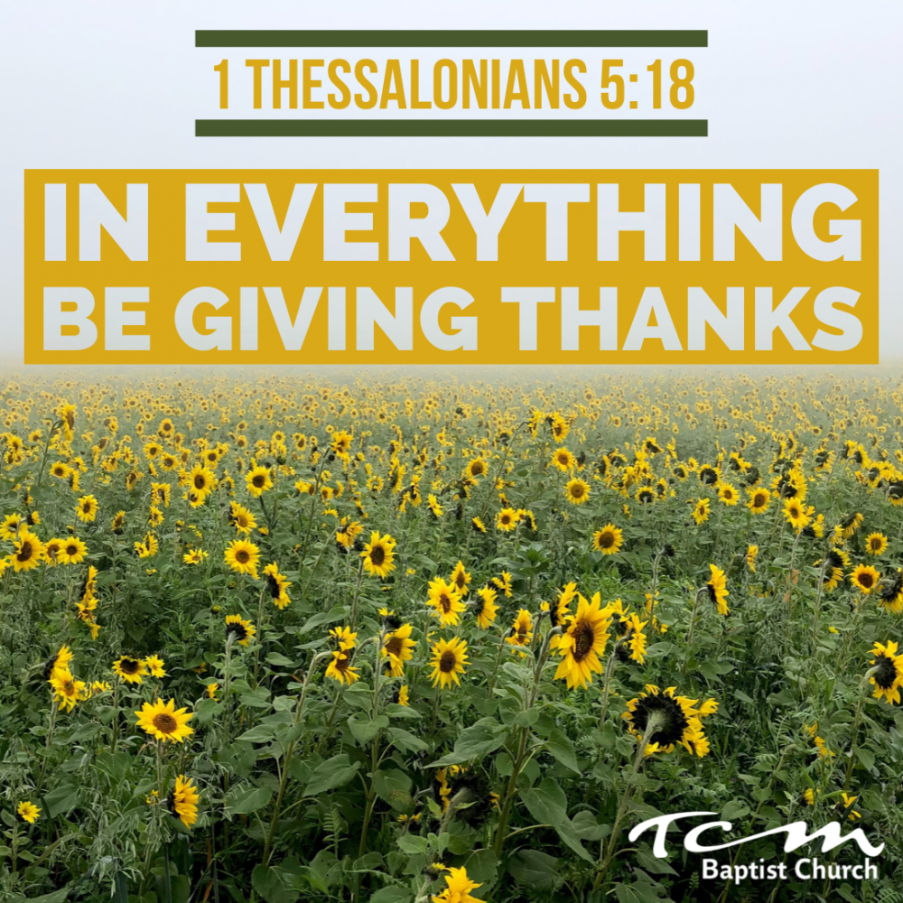 In Everything Be Giving Thanks Image