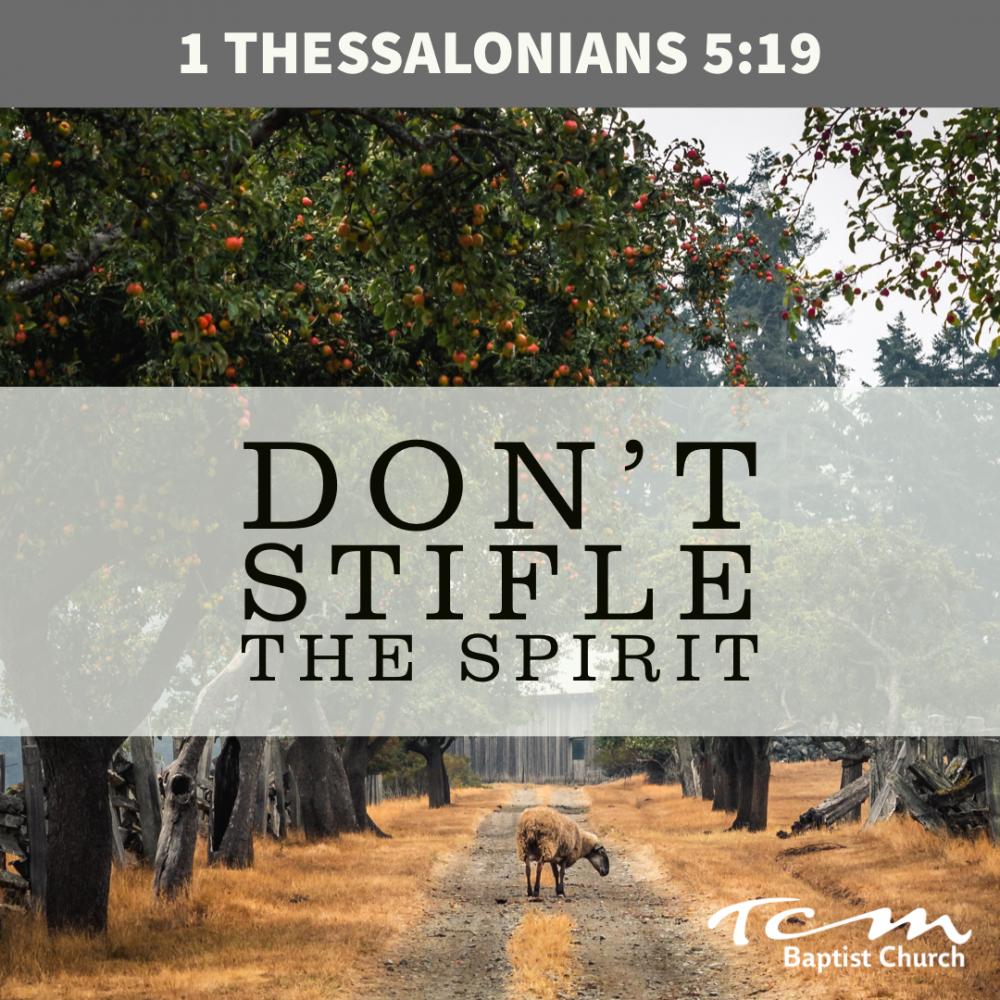 Don't Stifle The Spirit Image